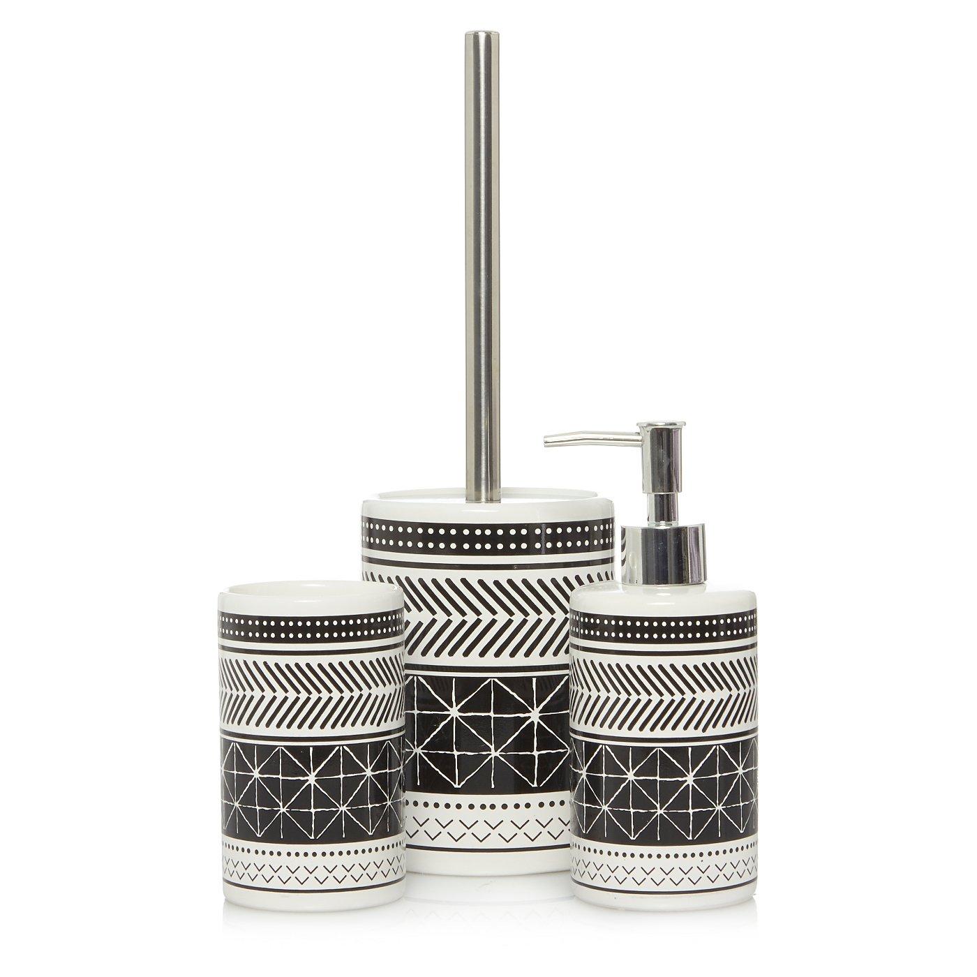 Cheap purple bathroom accessories - Geo Print Bath Accessories Range