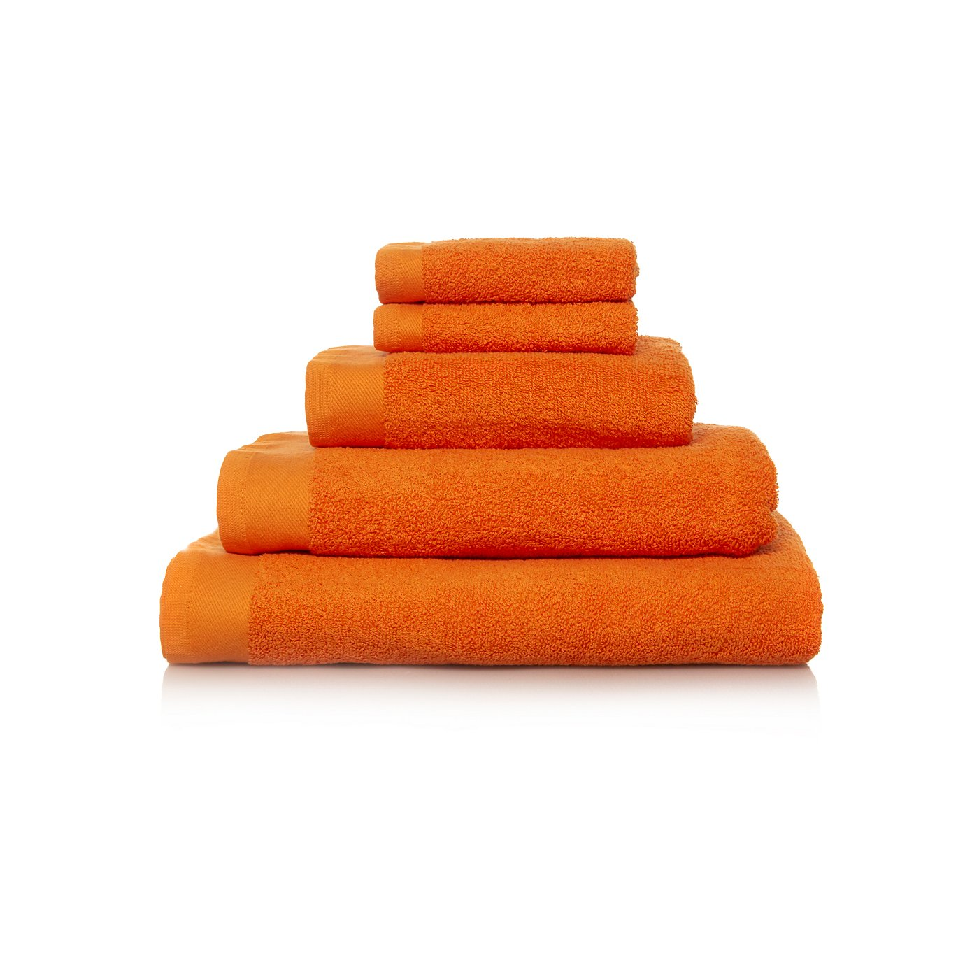 White apron asda - 100 Cotton Towel Range Zingy Orange