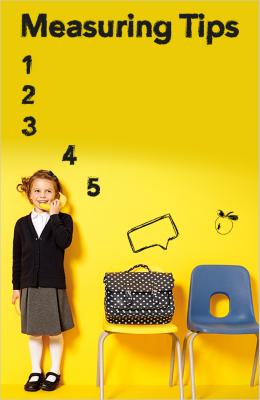 school kids size guide