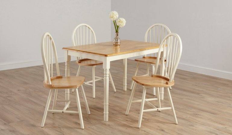 George Home Yvette Dining Furniture Range - Oak Effect and Cream