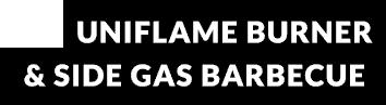 uniflame burner & side gas barbecue