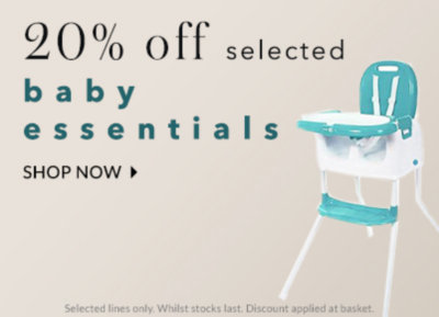 Expecting? Get 20% off baby essentials at George.com