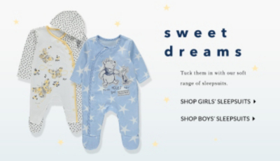 Ensure your little one is comfy and snug with our range of sleepsuits at George.com