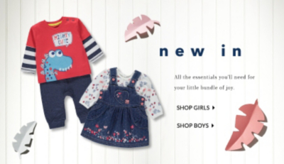 Shop baby clothes at George.com