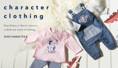 Explore our character shop range for little ones at George.com