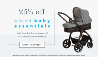 Get the latest offers on our baby range at George.com