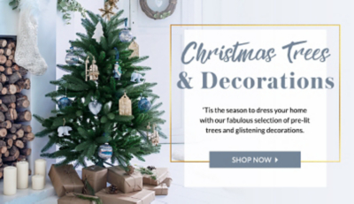 Turn your home into festive wonderland with our great selection of trees and decorations at George.com