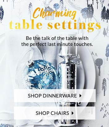 Find stunning dinnerware to make your Christmas spread extra special at George.com