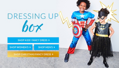 From Superman to Minnie Mouse and pirates, who will they be? Shop kids fancy dress at George.com
