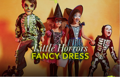 You'll find only the most magical Halloween costumes for boys and girls at George at Asda this season for budding witches and pretty pumpkins alike!