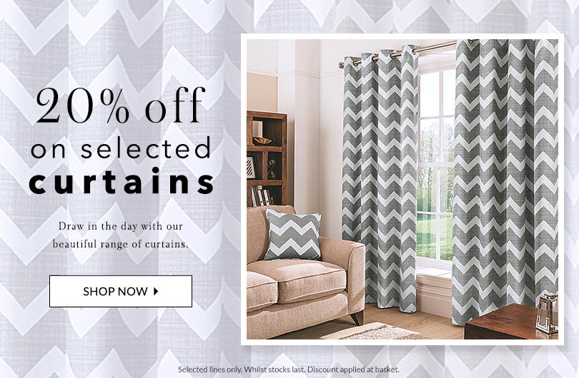 Give your windows a stylish frame with 20% off selected curtains at George.com