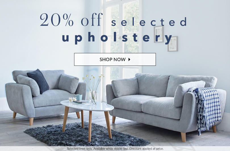 Get 20% off selected upholstery now at George.com