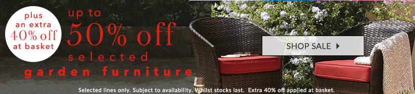 Create the perfect garden space with our outdoor furniture SALE at George.com