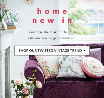 Bring vintage charm into your home with our Twisted Vintage range at George.com