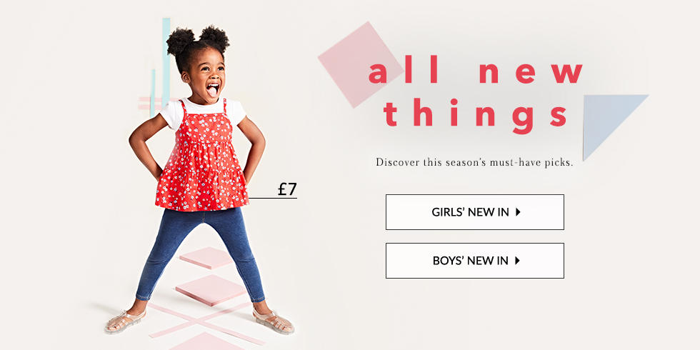 Discover new arrivals for your kids at George.com