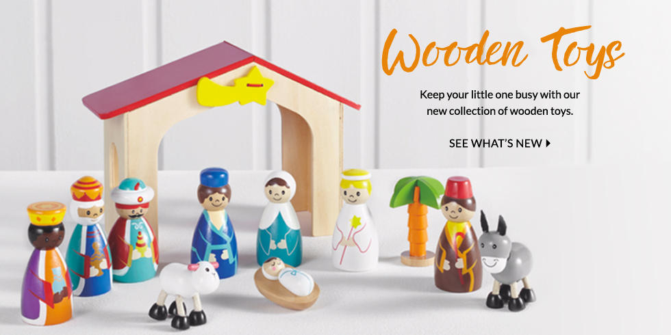 Treat them to our range of wooden toys at George.com