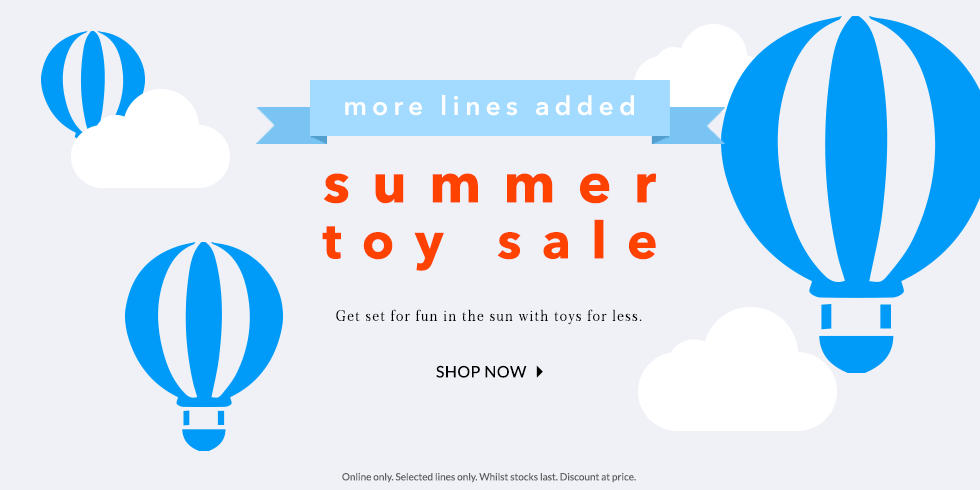 Top up their toybox for less this summer with our BIG toy SALE at George.com