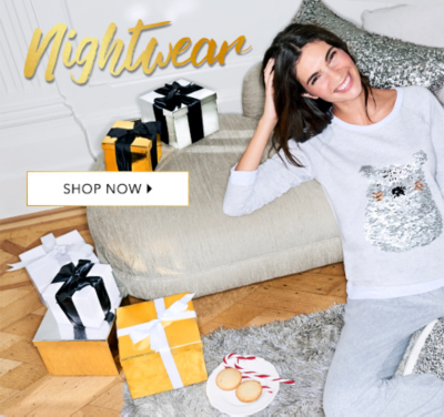 Sweet dreams - treat yourself to a snug Christmas with our gorgeous range of nightwear at George.com
