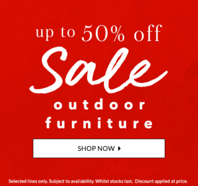 Get up to 50% off outdoor furniture at George.com