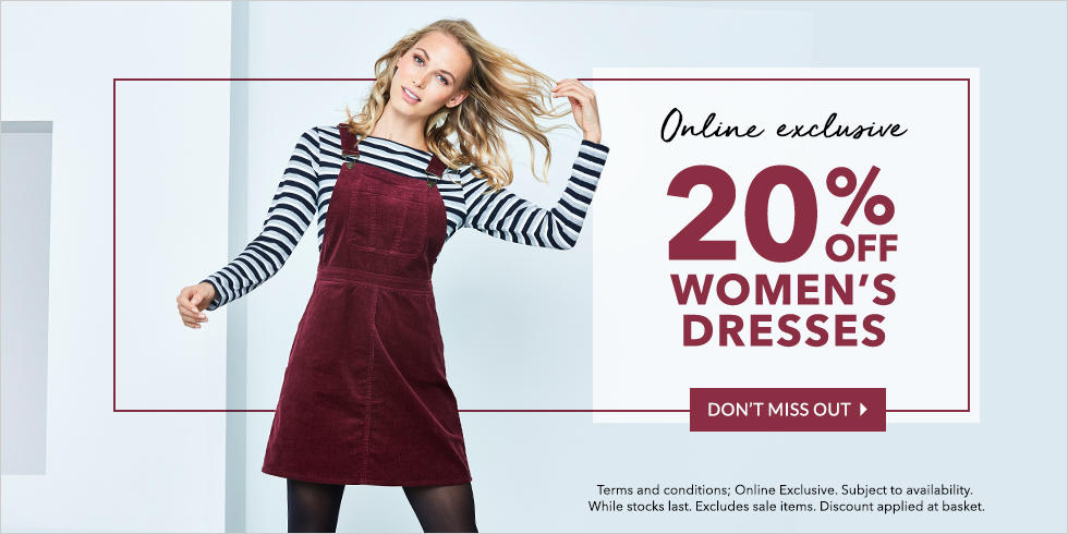 Get the latest offer on any of our gorgeous dresses in just one click at George.com