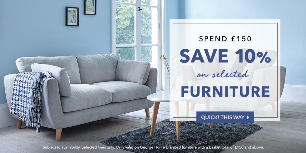 Get beautiful furniture for less at George.com