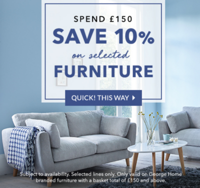 Get the best savings on our furniture collection at George.com
