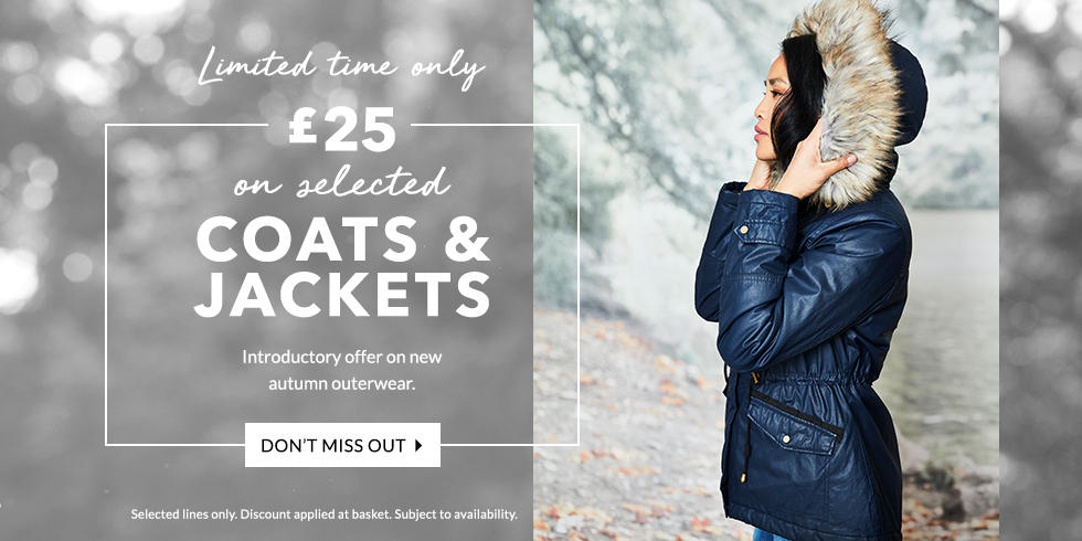 Get the latest deal on our coats and jackets, exclusive to George.com