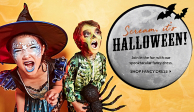 Scream it's Halloween! Explore fancy dress, exclusive to George.com