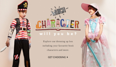 Which character will they be? Shop our fancy dress range at George.com