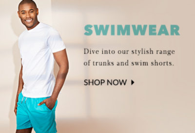 Dive into style with our range of swimwear for men at George.com