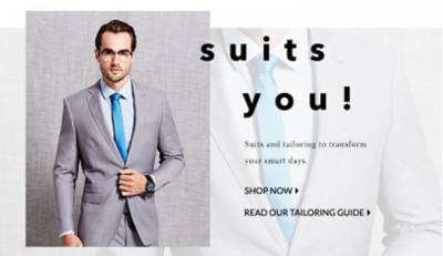 Smarten up your style with our selection of suits