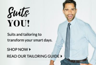 Look sharp and shop our range of tailored suits at George.com