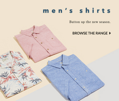 From smart to casual, shop shirts for men at George.com