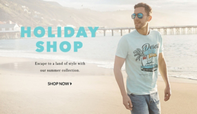 Jet away in sunny style with the latest clothing for men at Geoge.com