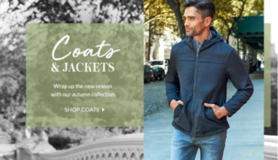 Invest in a new coat or jacket for the autumn at George.com