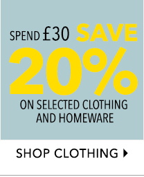 Spend £30 and save 20% on selected family clothing at George.com