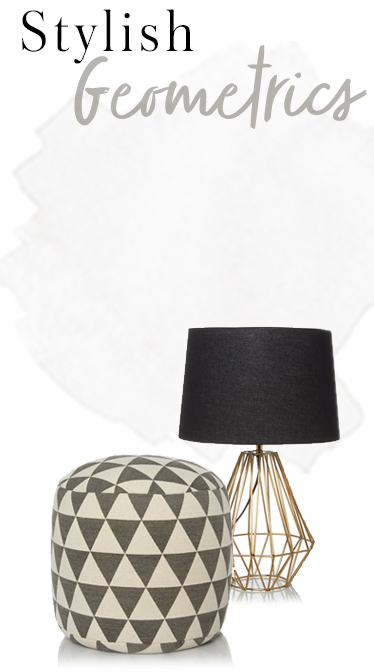 Update your home with geometric patterns at George.com