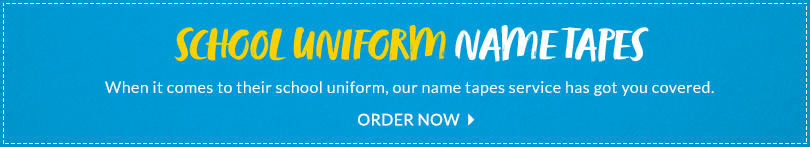 Personalise their school uniform with our name tape ordering service at George.com