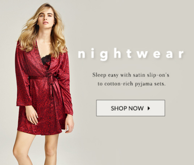 Take your look from day to night with stylish nightwear at George.com