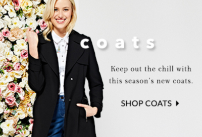 Shop stylish coats and jackets to wrap up this season at George.com