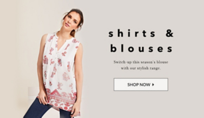 Discover your look with this season's blouses and shirts at George.com