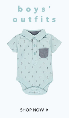 Browse our range of sweet baby boy outfits at George.com