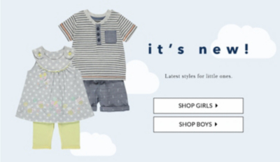 Shop the latest styles for little ones at George.com