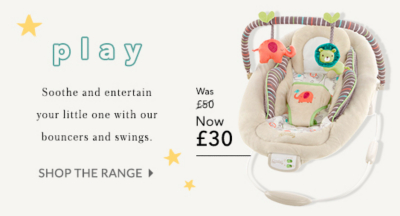 Make everyday playtime with our range of baby bouncer offers at George.com