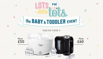 Find everything you need for your little one with our baby event offers at George.com