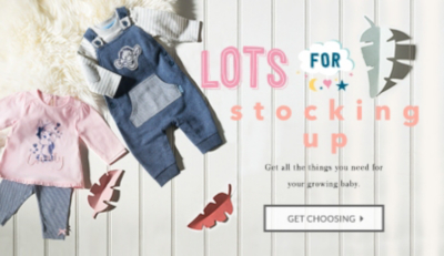 Update their mini wardrobe with 20% off baby clothing when you spend £30 at George.com