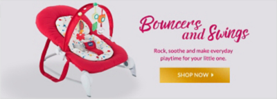Find bouncers and swings for smiles all round at George.com