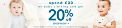 Don't miss out on our unbeatable discounts for babywear at George.com