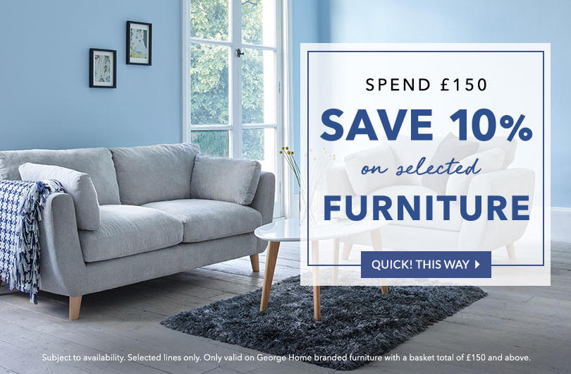 In need of a home makeover? Get this great offer now at George.com