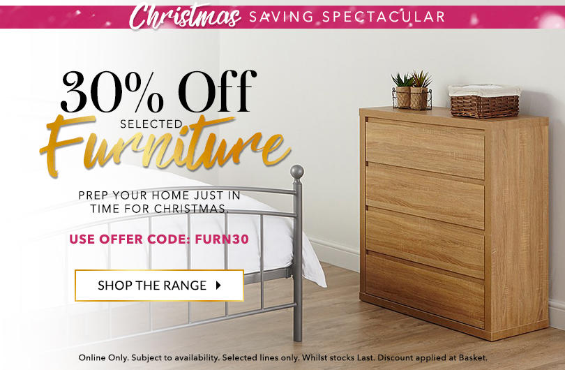 Make sure your home is ready for a season of celebrations with this amazing offer at George.com